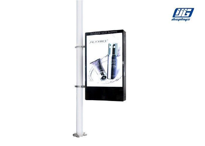 High Image Quality LCD Advertising Display Single Side 100~240V Easy Management