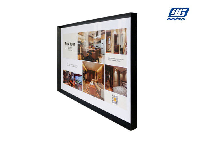 Wall - mounting or Hanging Picture Frames , Black Invaginated Single Side Large Graphic Display Frame